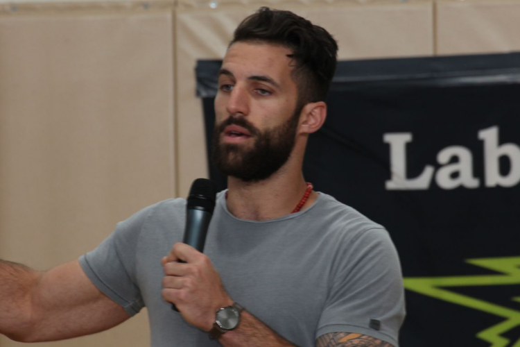Paul Rabil speaking to students at Lab