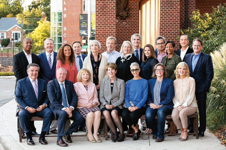 Board of Trustees Group photo outside