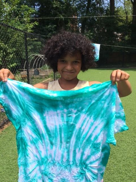 Summer Camp, girl with tyedye shirt