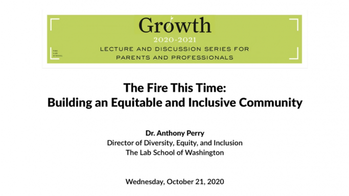 Anthony Perry October Lecture